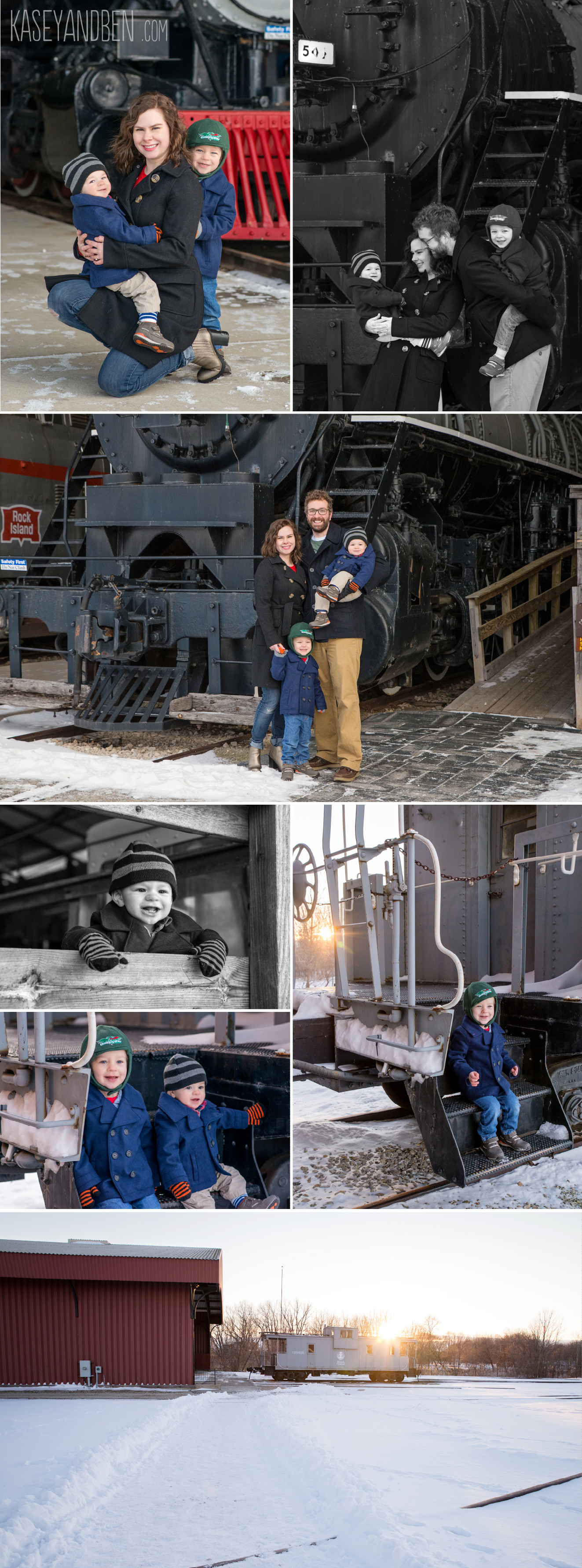 National-Railroad-Museum-Trains-Green-Bay-Photos-Family-Photographer-Winter-Outdoors-Kids-Birthday