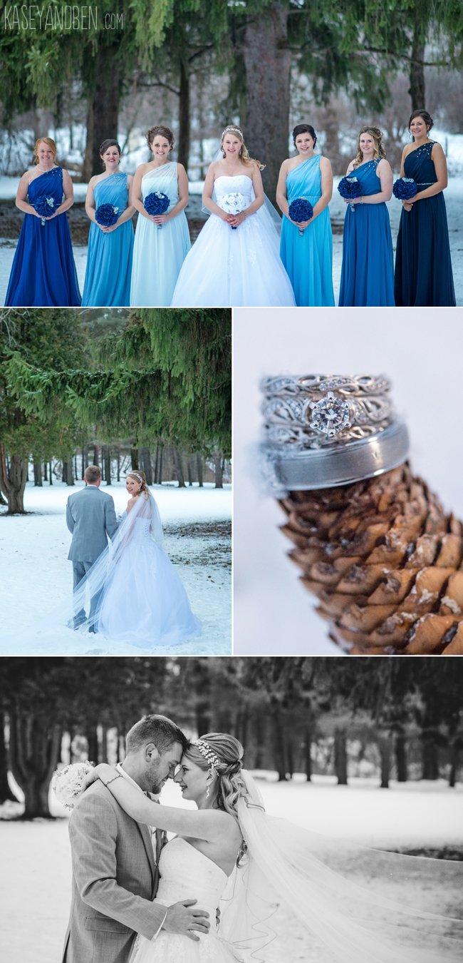green bay winter wedding photography snow door county photographer