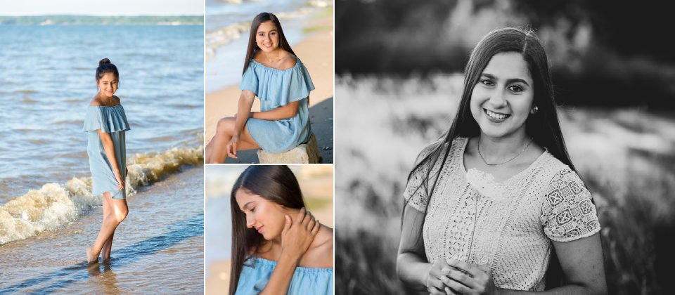 Waterfront Senior Photos Beach