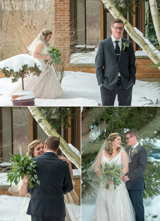 Winter Wedding Sheboygan Wisconsin