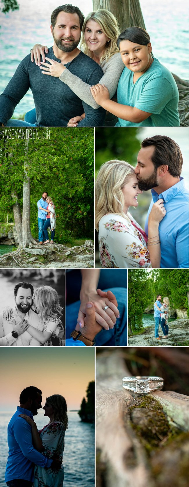 Cave Point Engagement Photos
