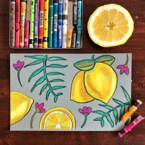Watercolor Crayon class