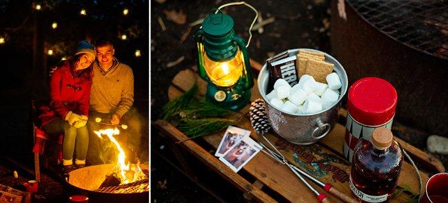 Winter campfire photos